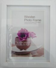 New 4x White Wooden Photo Frame A4 Timber Picture Certificate Document Frame
