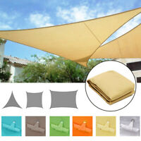 Sun Shade Sail Outdoor Waterproof 300D UV Block Top Cover Patio Awning Canopy