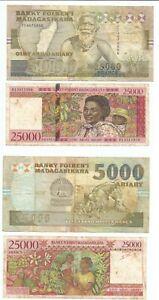MADAGASCAR MADAGASKAR MALAGASY lot P74A + P81