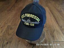 Uss Forrestal Cva-59 U.S Navy Ship Hat Official U.S Military Ball Cap Usa Made