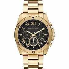Michael Kors Brecken MK8481 Gold Tone Brecken Black Dial Chronograph Men's Watch