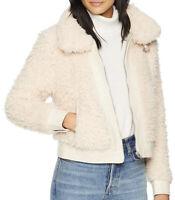 NWT BlankNYC Women's Faux sherpa cropped Jacket Cloud Nine Size L