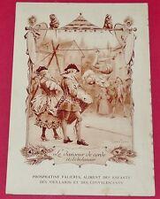 RARE 1900 CHROMO 13 x 19 FABLE DE FLORIAN DANSEUR DE CORDE PHOSPHATINE FALIERES
