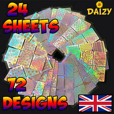 Nail art stencils ebay 24 sheets nail art vinyl manicure stencils guide roses hearts 72 designs new uk prinsesfo Images