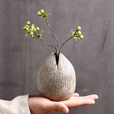 Retro Ceramic Vase Hydroponic Ikebana Vase Handmade Pottery Gift Desk Home Decor
