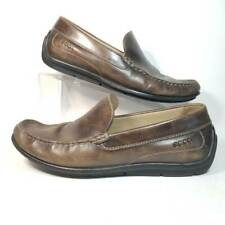 ECCO Mens Driving Moccasins Shoes Brown Leather Slip On Loafers EUR 43 US 9 EE