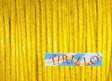 BIGIOTTERIA PERLINE - 20 metri di filo cerato giallo-0,5mm