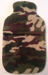 CAMOUFLAGE  ~ HOT WATER BOTTLE COVER ~ FREE UK POSTAGE