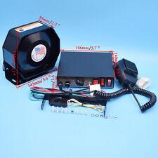 Car 200W 8 Tones Warning Alarm Police Fire Siren Horn PA Speaker MIC System Good