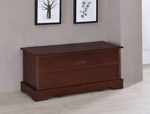Coaster Rectangular Cedar Blanket Chest Warm Brown 4694