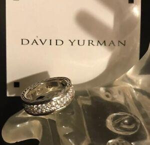 David Yurman Streamline 2 Row Diamond Ring Size 10