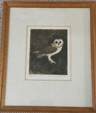 Caroline Garrett Webbe Framed Limited Ed. Print Barn Owl 7/25 II Ed.