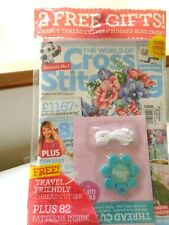 World Of Cross Stitch Magazine New/Sealed Printed in UK with 2 free designs