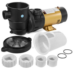 1.5HP Variable Speed Swimming Pool Pump Energy Efficient Strainer 2-Speed