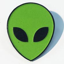 Alien Head Glow In The Dark Face Area 51 Enamel Lapel Pin