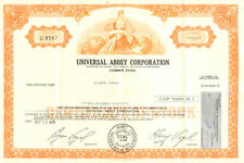 Universal Abbey Corporation > 1978 share stock certificate