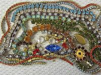 100% SWAROVSKI RHINESTONE CHAIN ROPE STRIPS SETTINGS LOT VTG NOS FINDINGS CRAFTS