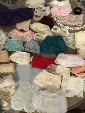 Lot 30+Vintage Lace & Trims for Doll Clothes Sewing Crafting Junk Journals Etc.
