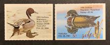 Tdstamps: Us Indiana Duck Stamps (2) Mint Nh Og