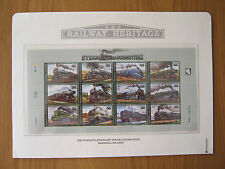 STEAM LOCOMOTIVES MINI SHEET MARSHALL ISLANDS 1996