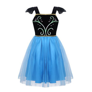 Baby Girl Princess Dress Up Fancy Costume Halloween Cartoon Romper Dress Cosplay