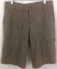Columbia Women's Taupe Cotton Outdoor Hiking Camp Shorts Size 6 ~ EUC