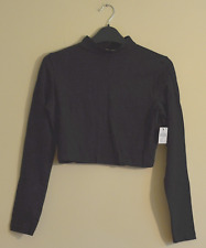 New! Atmosphere women's black high neck crop top - UK 12 - polo boho roll cowl