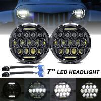 "2X 7"" inch 260W Round LED Headlight Hi/Lo DRL Beam for Jeep Wrangler JK LJ TJ CJ"