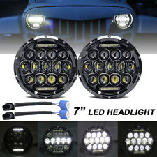 "2X 7"" inch 260W Round LED Headlight Hi/Lo DRL Beam for Jeep Wrangler JK LJ TJ CJ"