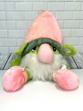 The World Of Smile Large Gnome Pink Hat White Beard Vintage 1985 28 inches tall