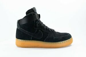 Nike Women's Air Force 1 High 07 LV8 Black Suede Sneakers Shoes Size US 9 VGC