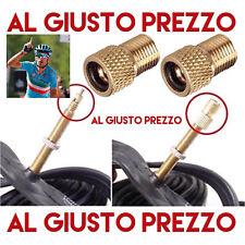 2 Adattatori Valvole per Bici Da Corsa o MTB. Gonfia le gomme con Compressore