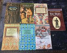 Lote de 7 clásicos de Dover Thrift: la toma de la musaraña, Edipo Rex, Sonetos..
