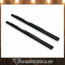 "For 2005-17 Nissan Frontier Crew Cab 4"" Oval Black Side Step Running Nerf Bar x2"