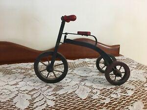 Vintage Wood Metal Tricycle Decorative Folk Art Home Decor bicycle