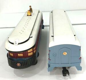 Lionel Polar Express Set of 2 Passenger & Hobo Cars Observation 7-11022 G Gauge