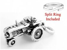 STERLING SILVER 3D TRACTOR CHARM WITH SPLIT RING