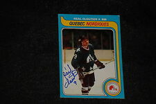 REAL CLOUTIER 1979-80 TOPPS SIGNED AUTOGRAPHED CARD #239 NORDIQUES