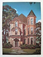 "DAVID MANN ""GOTHIC HOUSE"" Hand Signed Limited Edition Art Lithograph"