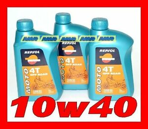 3 LITRI OLIO REPSOL 4t Off Road 10w40 MA2 100% synthetic    3 lt  3litro