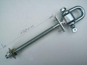 1 Schaukelhaken Schaukel 160 mm Haken Sicherheitsschaukelhaken 170 verzinkt 17cm