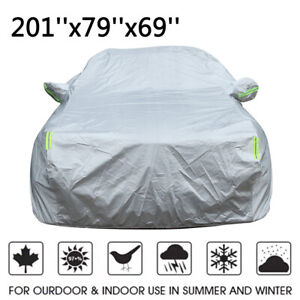 Aluminum Waterproof Full Car Cover for SUV Truck Sun UV Resistant Snow Protector