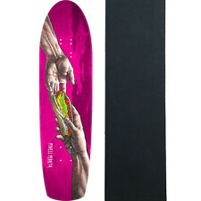 "Powell Peralta Skateboard Deck Hands Fun Shape Magenta 8.6"" With Grip"