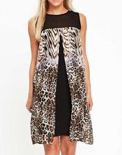 BNWT Petite Animal Print Split Front Overlay Dress 10