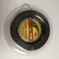 Big Banger Alu Power Rough 1.25mm/17L 200m/ Reel Tennis Racquet String,Black