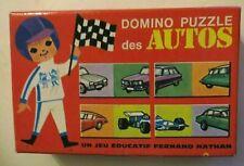 Domino Puzzle des Autos, 1971, Fernand Nathan - Cavahel Vintage