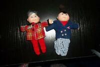 "Vtg 1990s CABBAGE PATCH KIDS Girl boy Dolls Small Soft Body Plush Doll 5"" guc+"