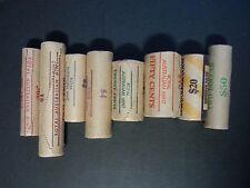 One Cent to $2 Australian RAM Mint Rolls 1980's ERA 8 Rolls Total