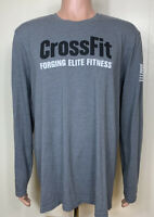 Mens Reebok Crossfit Forging Elite Fitness Long Sleeve T-Shirt Gray XXL