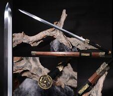 "42.51"" Chinese Sword ""Han Jian""(劍) High Manganese Steel Sharp Alloy Fitting #411"